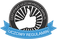 certyfikat regulamin